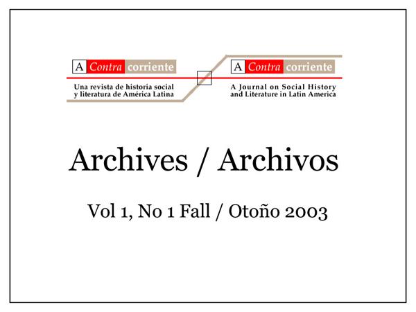 Portada Fall/Otono 2003
